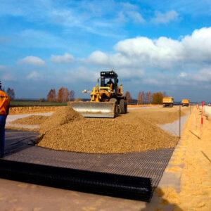 Устройство песчаного основания тол. 10 см