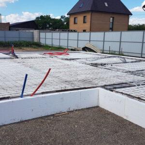 Устройство бетонного основания тол. 10 см с армированием